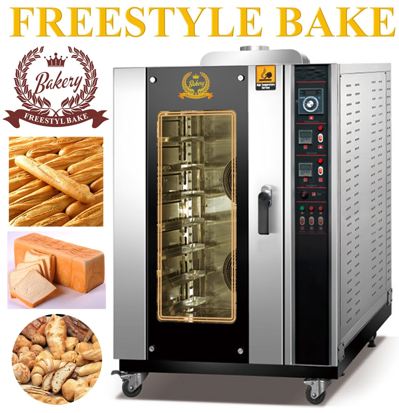 10 Trays Gas Convection Oven for Baking Foods with CE Certification (ALB-10Q)
