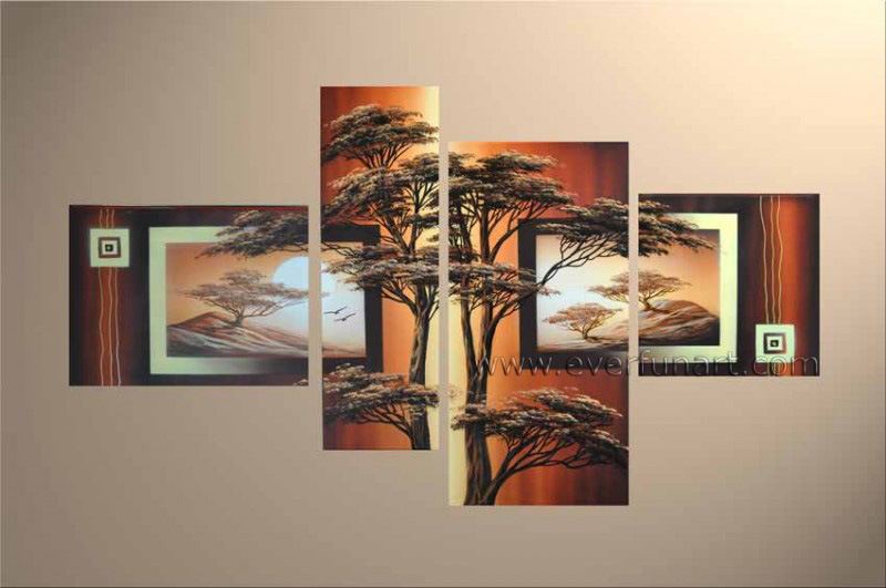 China Modern Home Decor African Art Landscape Oil Painting