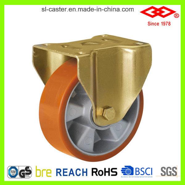 Swivel Locking Industrial PU Castor (P160-76F160X50S)