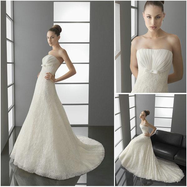 Cap Sleeve Lace Wedding Dresses LS014