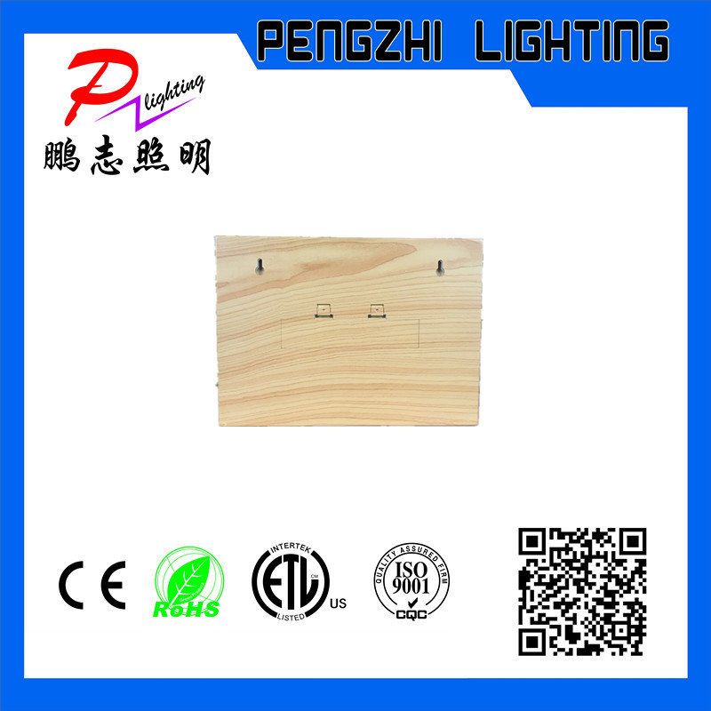 ABS Material Wooden Frame Advertising LED Light Box