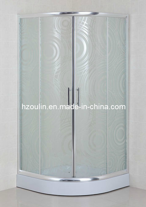 CE Certificated Acid Glass Sliding Door Shower Cubicle (AS-926)