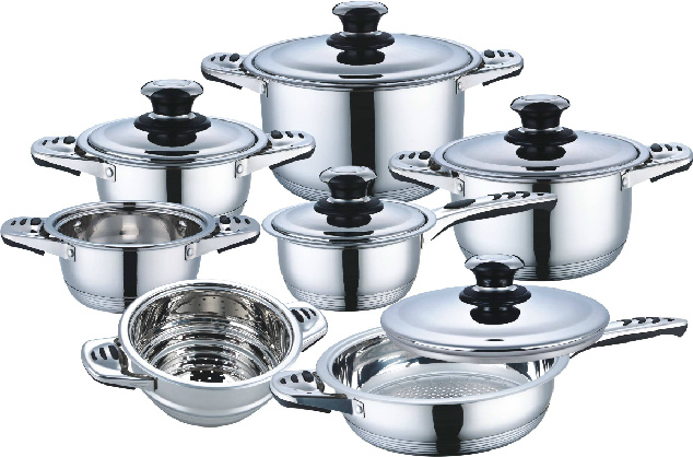 High Quality 12PCS Stainless Steel Cookware Set (CS112001)