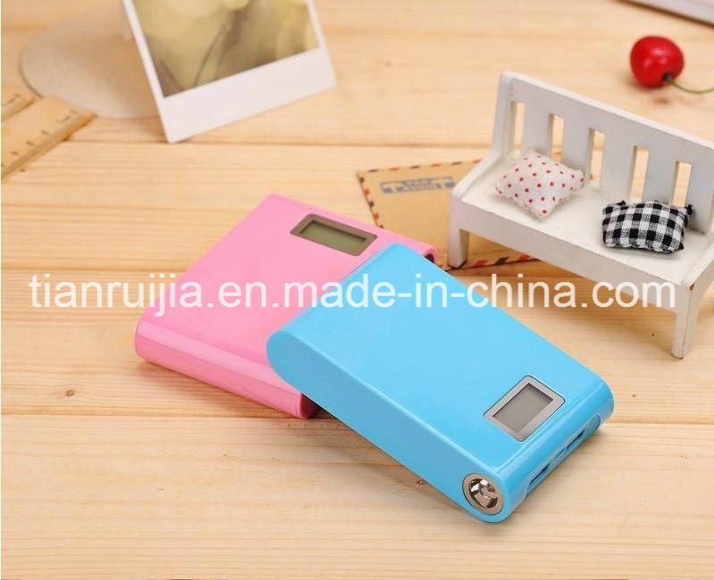 Power Bank 12000mAh High Capacity with Dual USB LCD