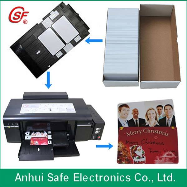 Cr80 Standard Size PVC Blank Matte Card Printable on Inkjet Printer