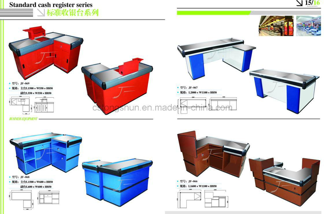 Hot Sale Supermarket Cash Checkout Counter/Table/Desk