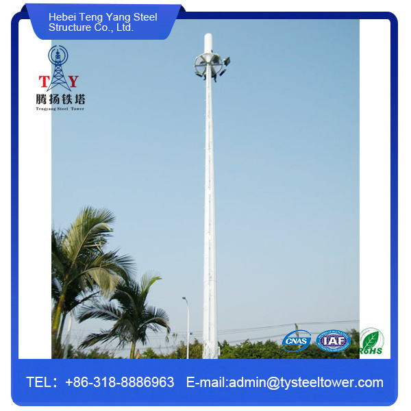 Hot DIP Galvanized Tubular Steel Poles Telecommunication Tower