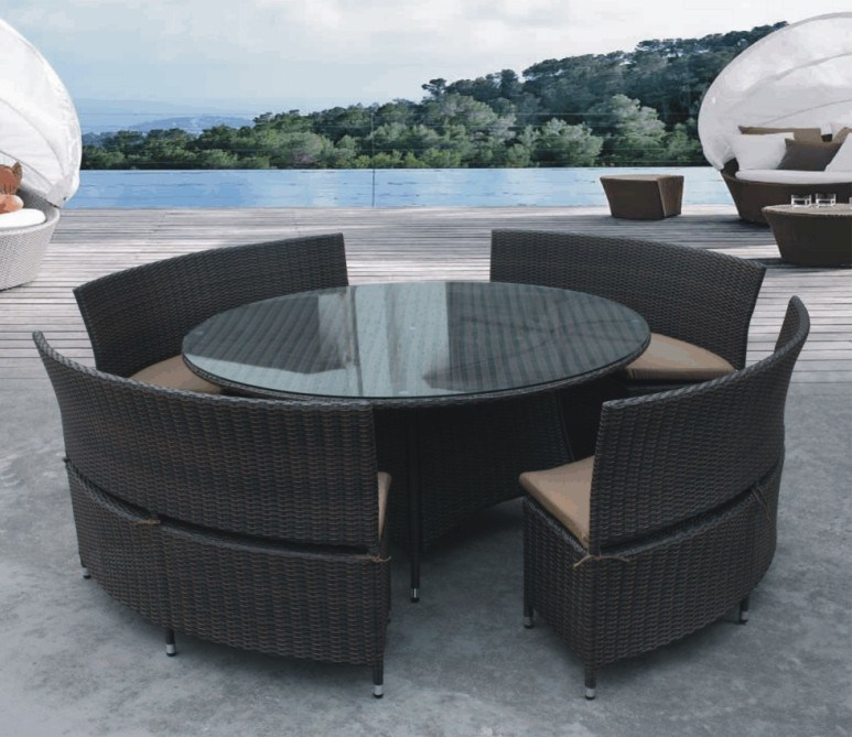 China Rattan Round Table And Chair Set Sv 9012 China