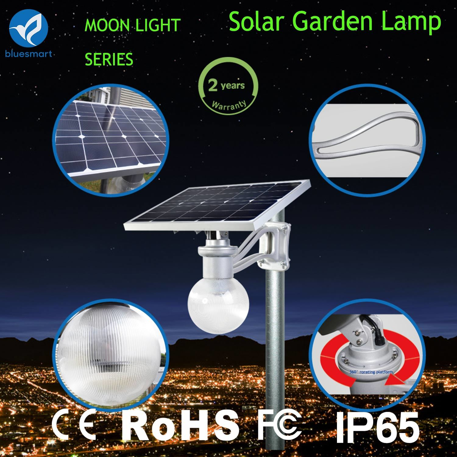 9W 6000k Online Solar LED Wall Lamp Fence Parking Yard Street Garden Light