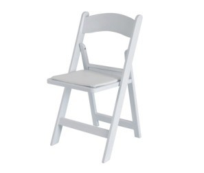 White Wedding Folding Chairs