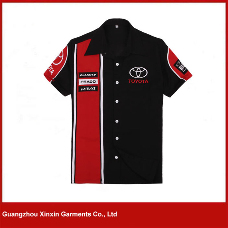 Best Selling Auto Motorbike Men′s Team Pit Crew Racing Shirts (S56)