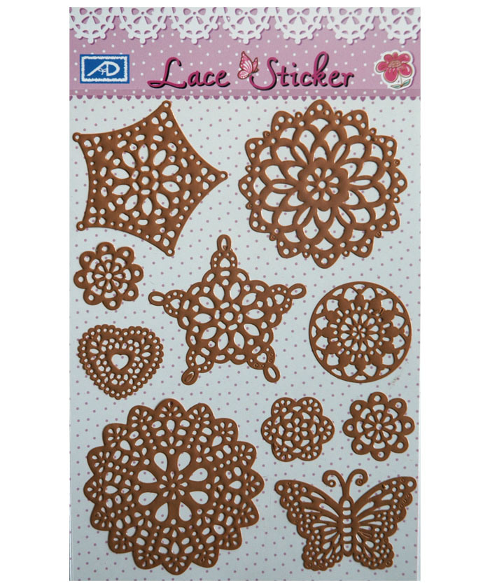 Lace Sticker DIY