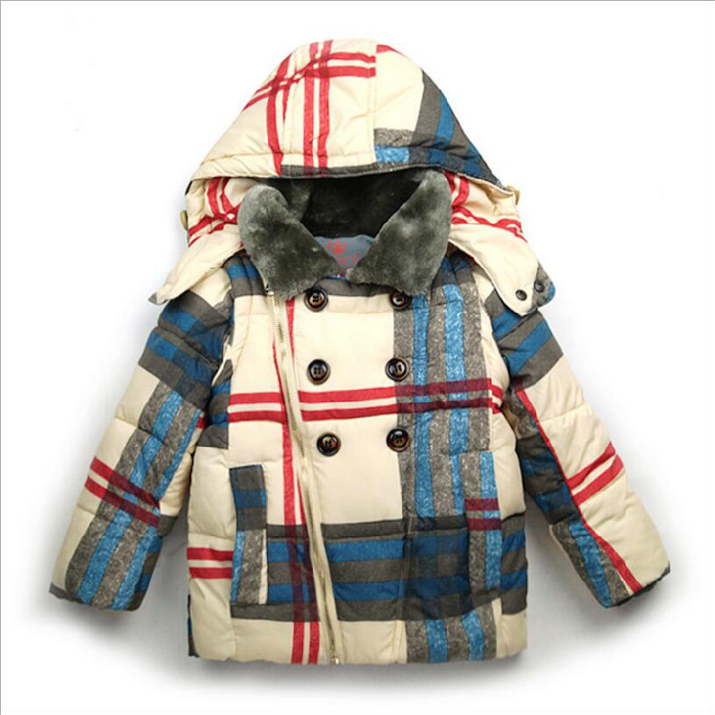 Plaid Warm Children Clothing for Children Wear