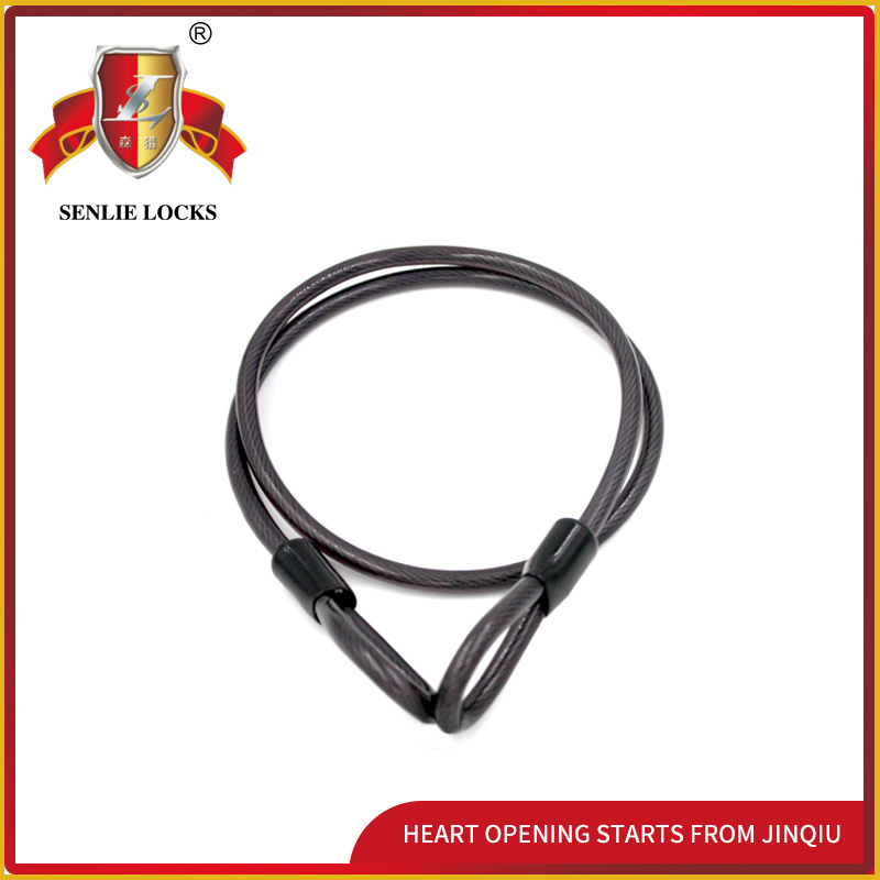 Jq8402 Black Color Security Bicycle Lock Mortorcycle Steel Cable Lock
