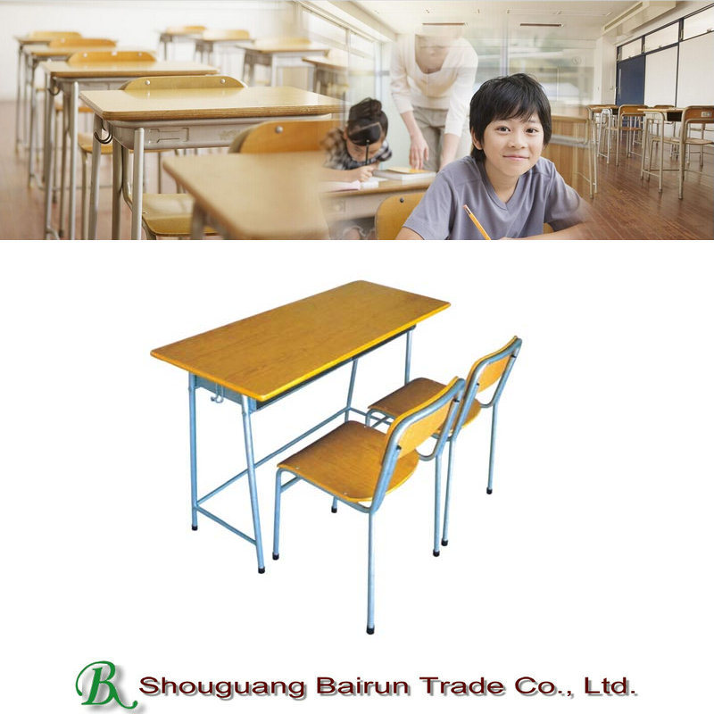 Steel Tube Frame Student Desk and Chair