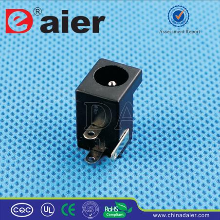 Black Plastic Electrical 2.1mm/2.5mm DC Power Jack