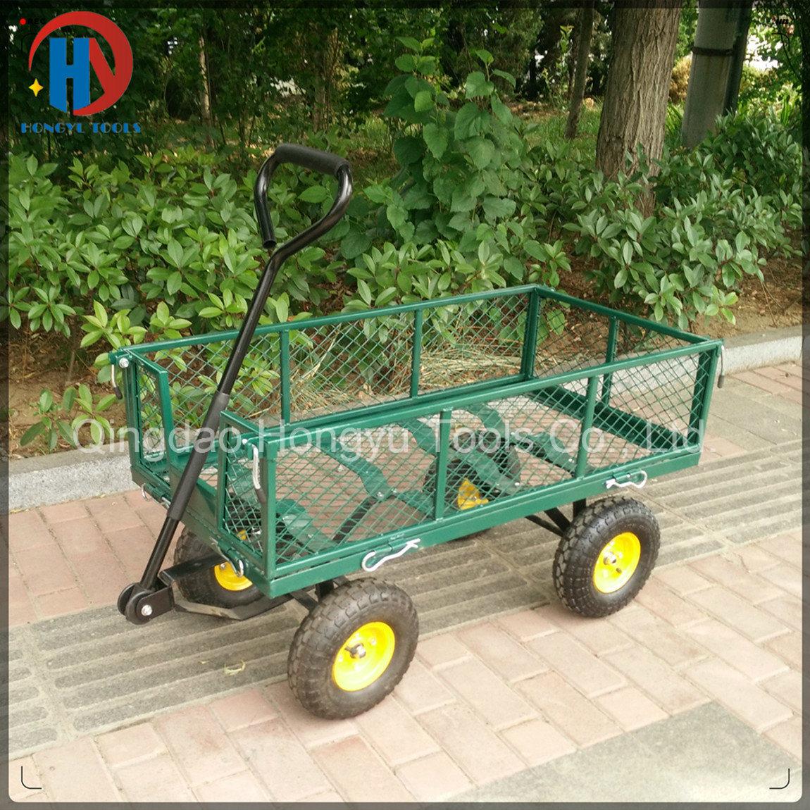 300kgs Capacity Steel Mesh Garden Cart/Utility Tool Cart