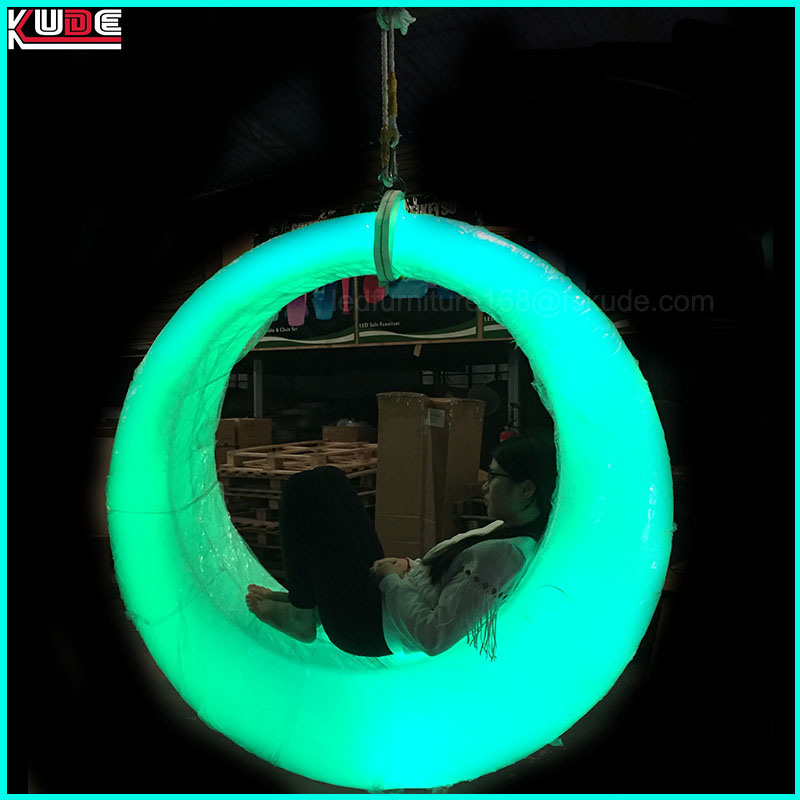 LED Outdoor Swing Indoor Colorchange Lighting Trapeze with Lighting