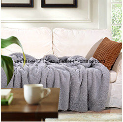 Soft High Quality Blanket Sr-B170212-26 Two Sides Sherpa Blanket