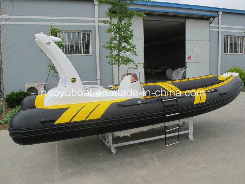 19 Feet 5.8m Rigid Inflatable Boat, Luxury Boat, Rafting Boat, China Boat, Motor Boat