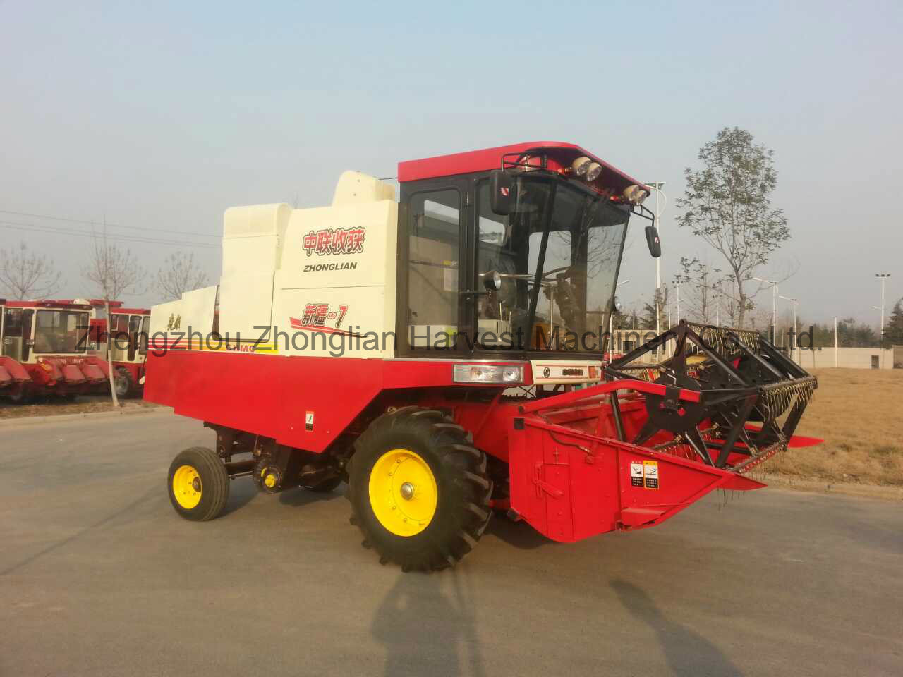 Rice Combine Harvest Machine Equipped with 2.5m Unloading Pipe