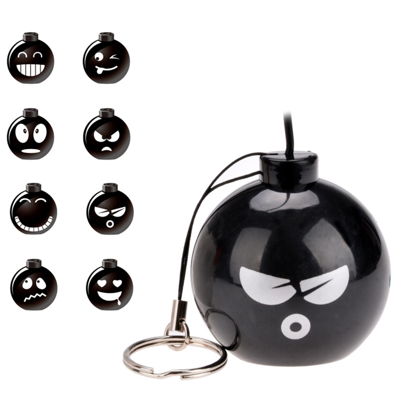 Fashion Audio Dock 3.5mm Jack Portable Stereo Various Expressions Bomb Mini Speaker for Mobile Phone MP3 MP4