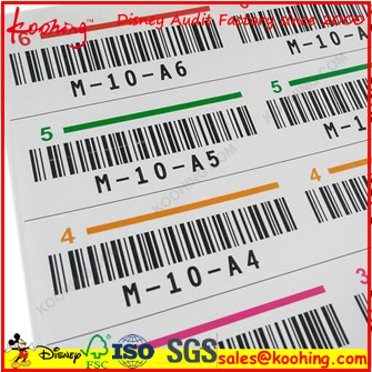 OEM Printing Serial Number Barcode Adhesive Label Stickers