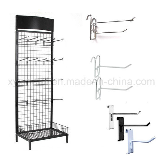 Grid Wall Hooks Wire Mesh Steel Gridwall Panel Stand Grid Display Rack
