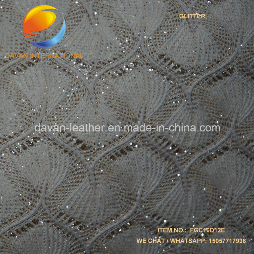 Artificial Leather Shinny Glitter for Lady Shoes