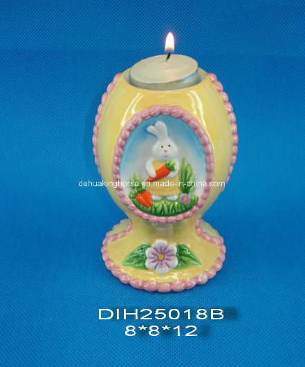 Easter Decorative Ceramic Tealight Candle Holder