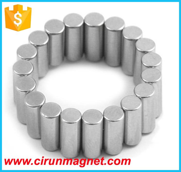 N52 D10*20mm Cylinder Bar Neodymium Magnet