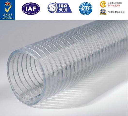 PU Flexible Ducting Hose Urethane Hose Polyurethane Pipe PU Duct with Steel Cord
