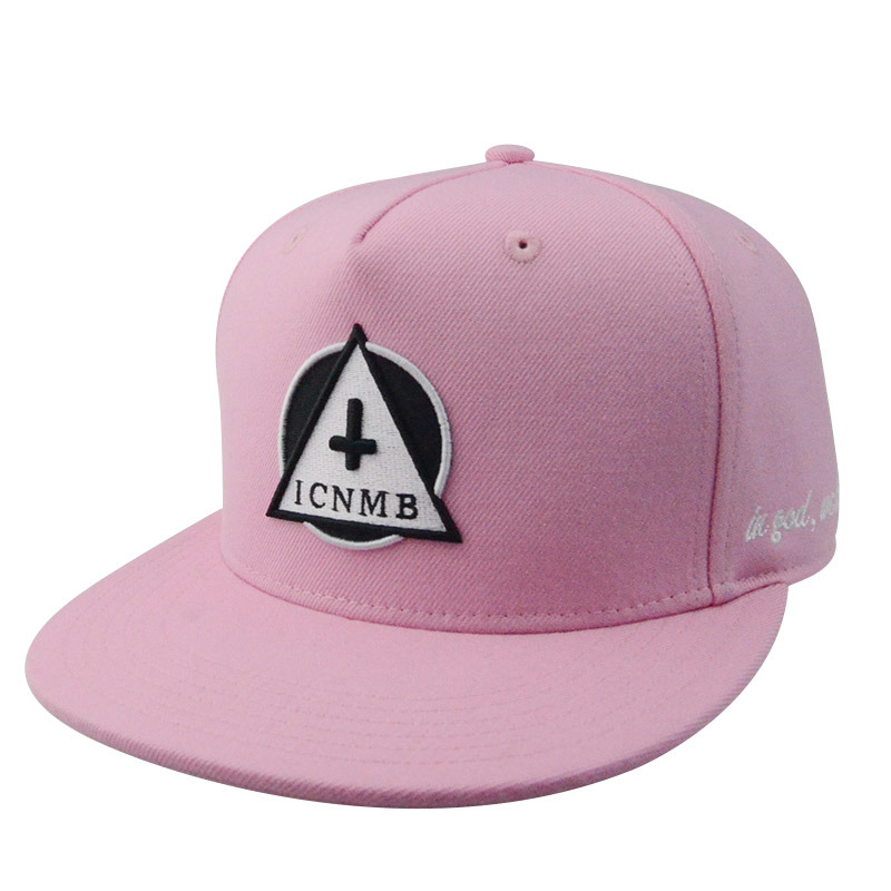 Custom Cotton Cap Hat 5 Panel Flat Brim 3D Embroidery Snapback Cap
