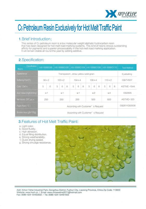 C5 Petroleum Resin for Hot Melt Traffic Paint