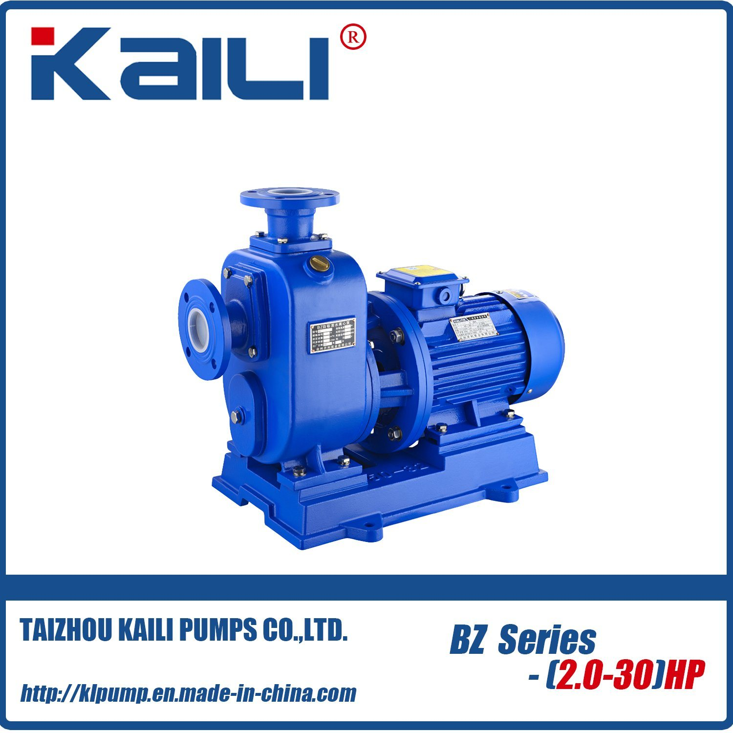 ZB Self- Priming Centrifugal Pump for Agriculture