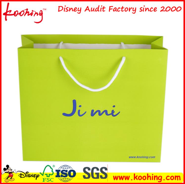 Customized Printing Logo Gold Gift Cloth Shopping Bag