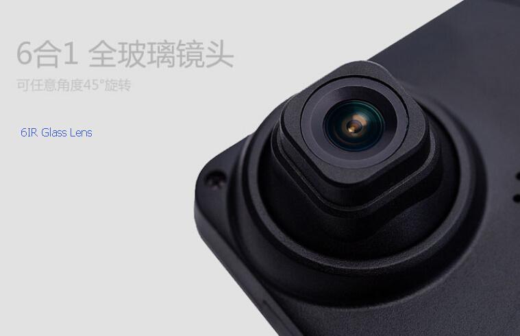 Two Camera Rearview Mirror Dual Cameras 1080P Car DVR