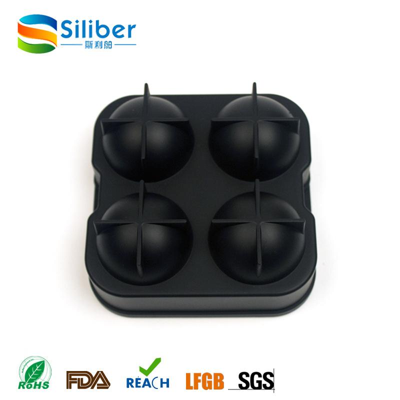 Black Flexible Silicone Ice Ball Spheres Maker Mold