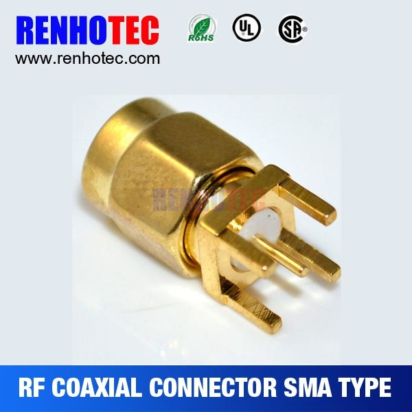 Straight PCB Receptacle SMA Connector