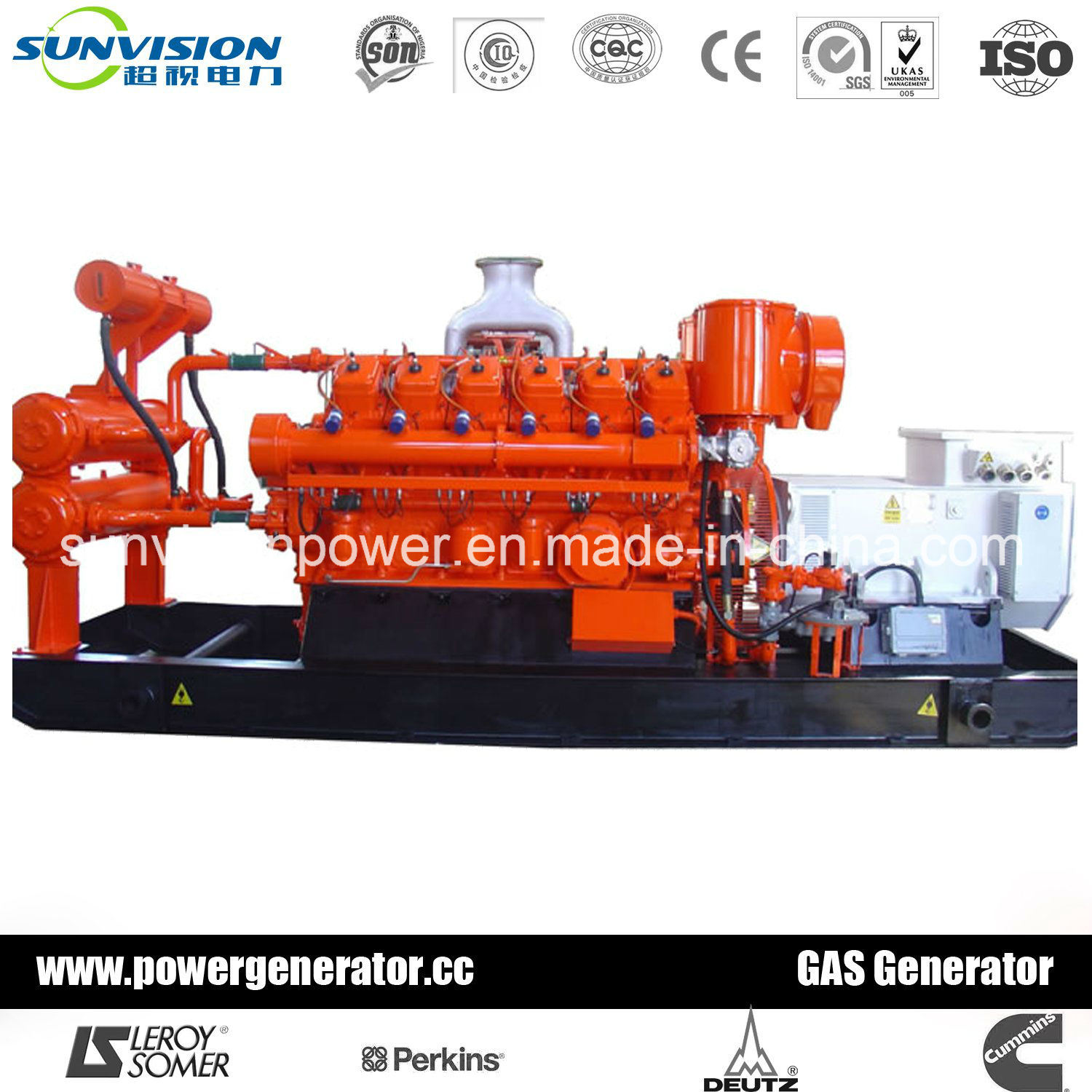 1375kVA Industrial Gas Genset with Cummins Engine