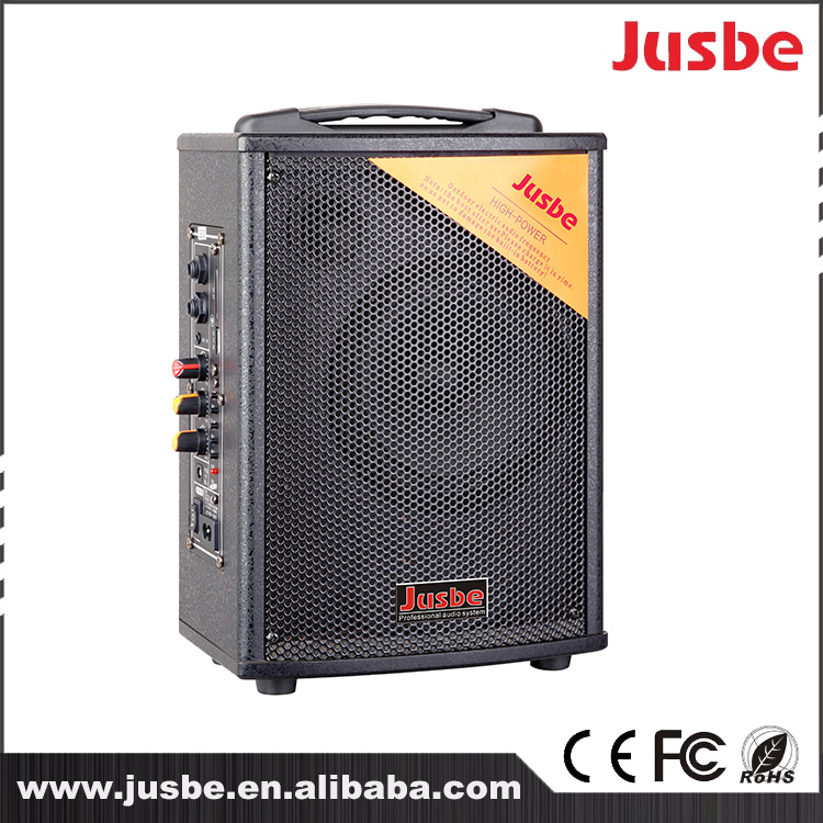 Jusbe 100W bluetooth portable MP3 FM DJ Radio Play Battery Pull Rod Speakers Sound Trolley Active Speaker with Ubs Port