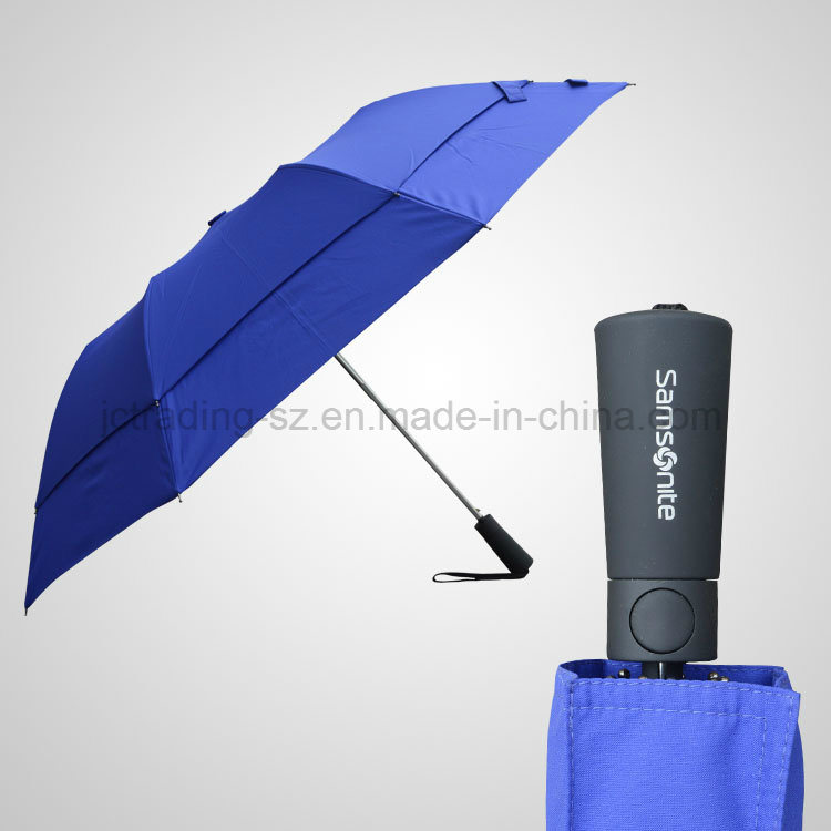 Double Layer 2 Section Automatic Foldable Umbrella