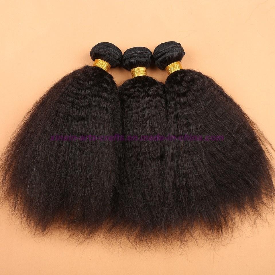 8A Malaysian Virgin Hair Kinky Straight with Silk Base Closure Silk Base Closures with Bundles