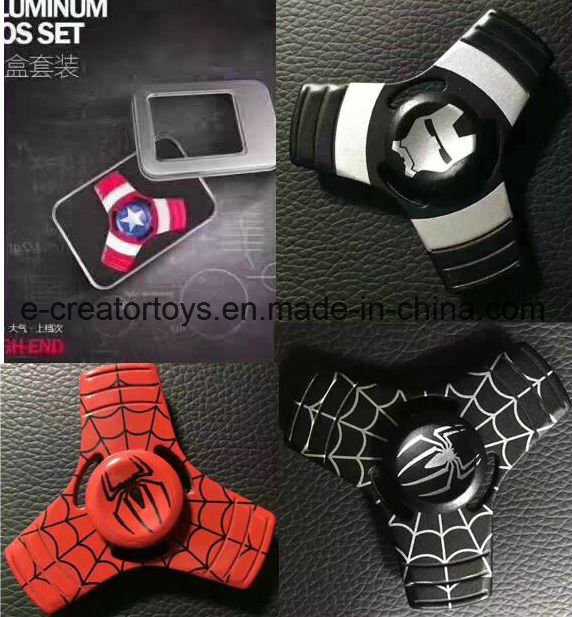 2017 New Aluminium Alloy Hand Spinner /Captain America/American Captain / Spiderman