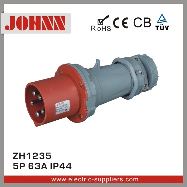 IP44 4p 63A Plug for Industrial