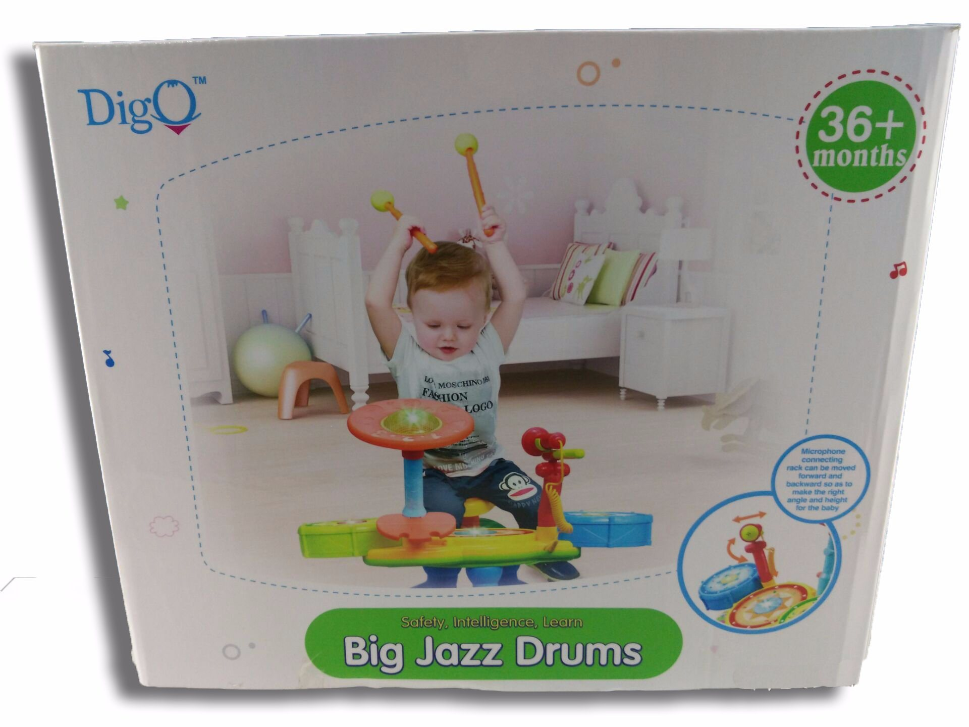 Kids Plastic Educational Big Jazz Drums Baby Toy