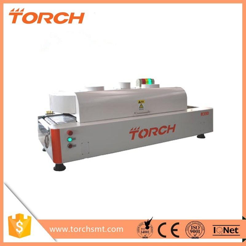 Torch Cheaper SMT/LED Mini Desktop Conveyor Reflow Oven R350 with 12 Zones
