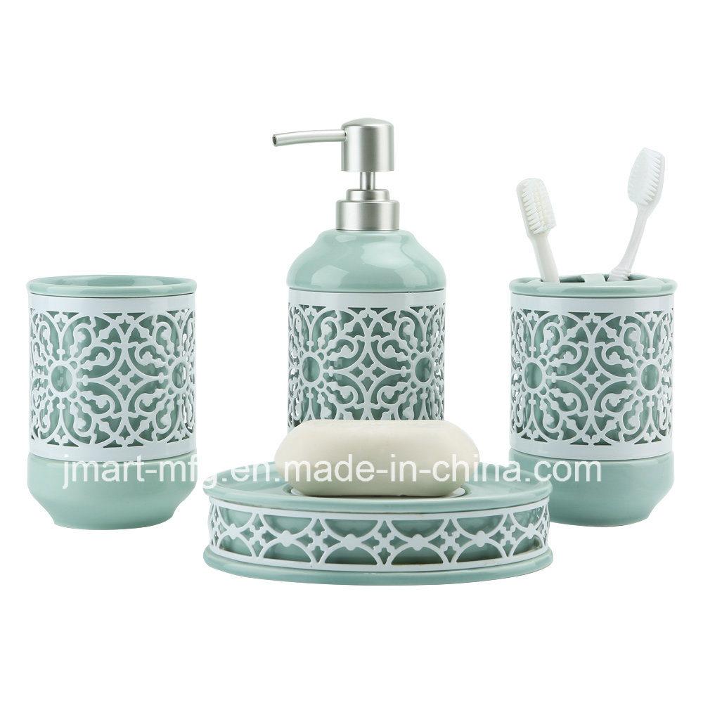 Ceramic & Metal Bathroom Accessory / Bath Accessory / Bathroom Set