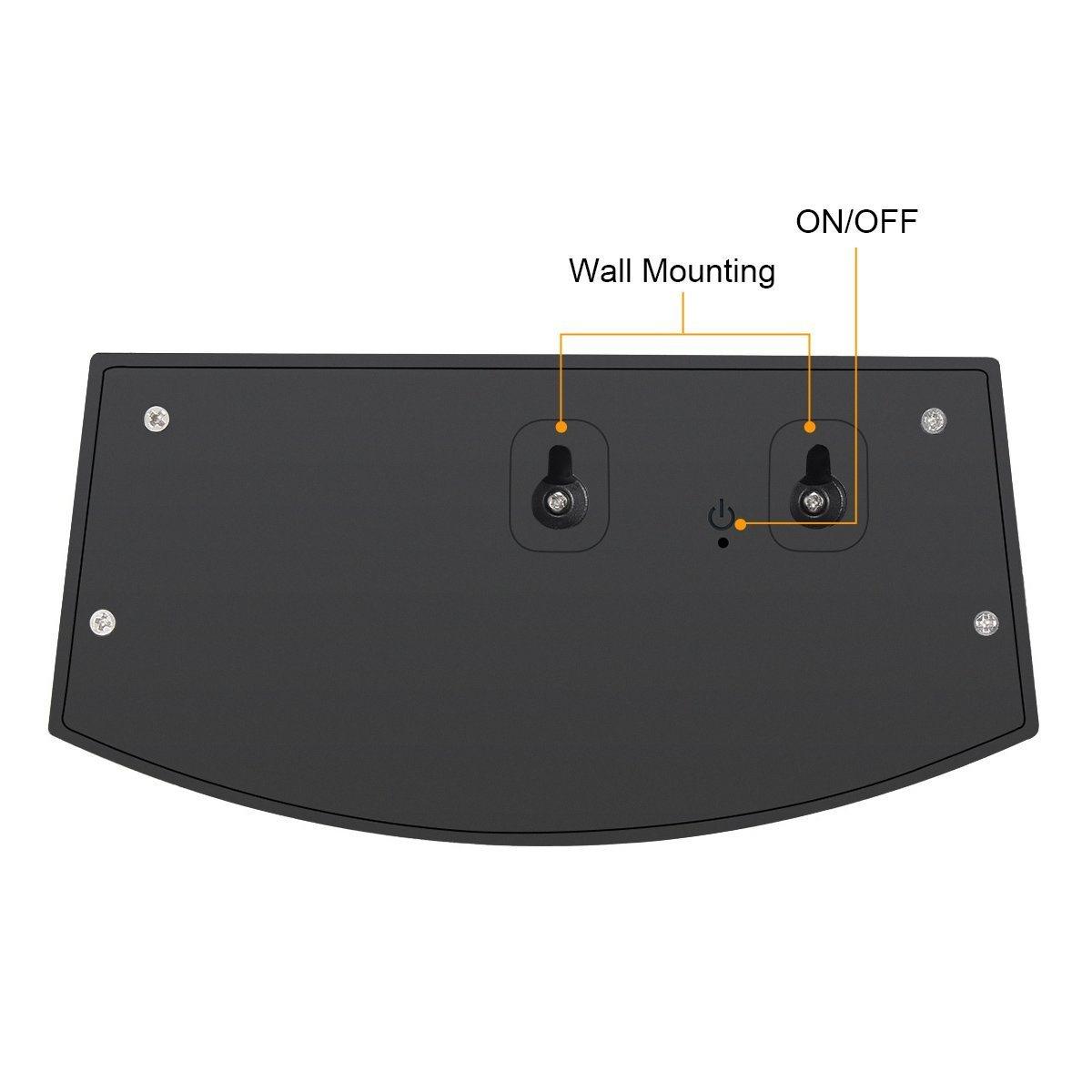 High Quality 8 LED Power PIR Motion Sensor Solar Smiling Wall Lamp, Waterproof Garden Lamp