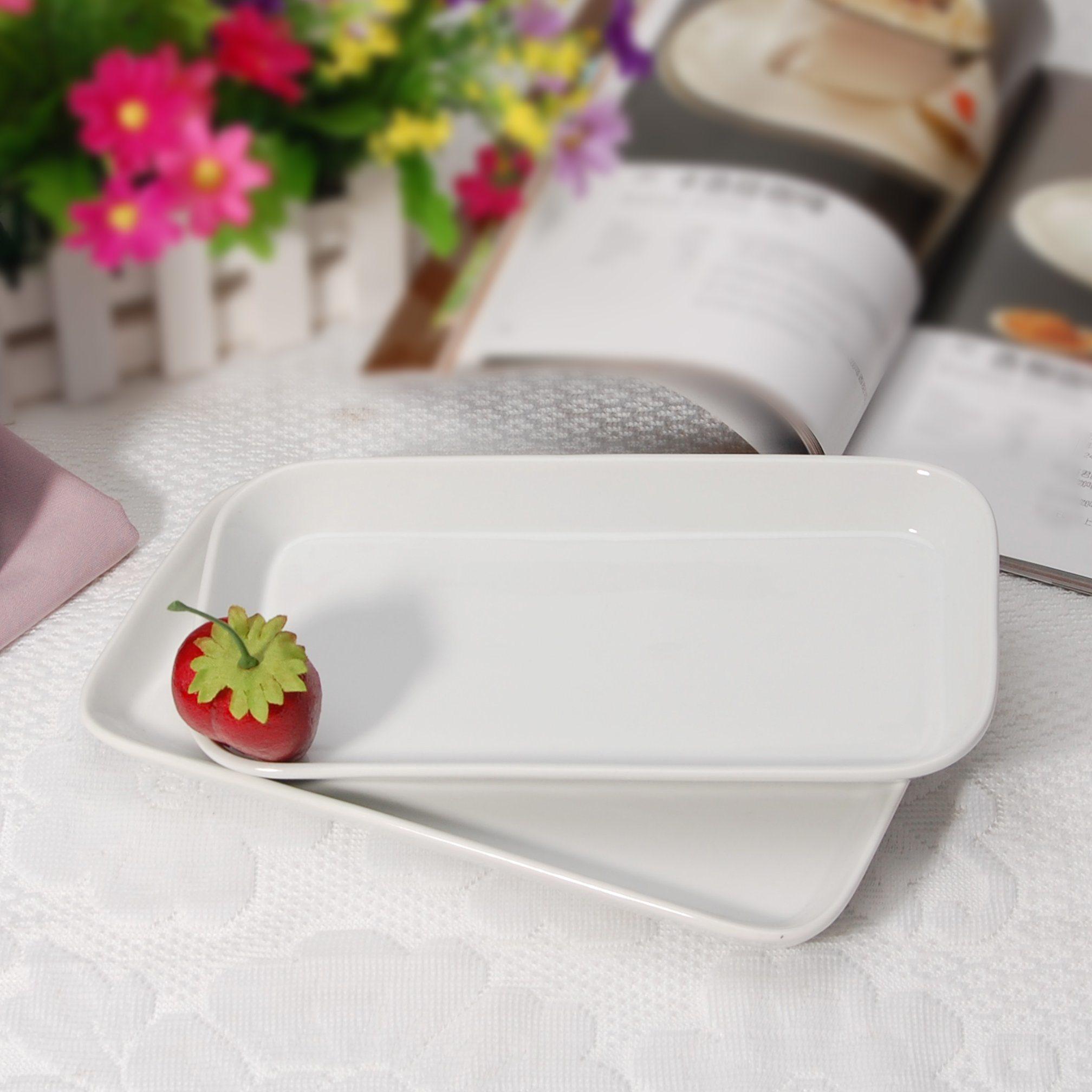 Mobile Porcelain Restaurant Rectangular Plates for Wholesales